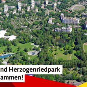 CDU fordert: Die Multihalle soll dauerhaft Bestandteil des Herzogenriedparks bleiben – keine Bäume rund um die Multihalle fällen!
