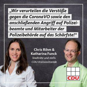 CDU verurteilt Angriffe auf Polizisten und Ordnungskräfte