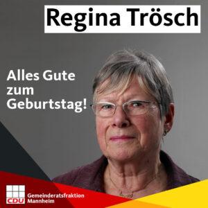 Altstadträtin Regina Trösch wird 80