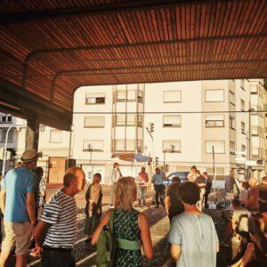 Vor-Ort-Gespräch auf dem Quartiersplatz: Kippt der Jungbusch?
