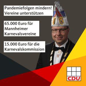 65.000 Euro für Mannheimer Karnevalsvereine und 15.000 Euro für die Karnevalskommission