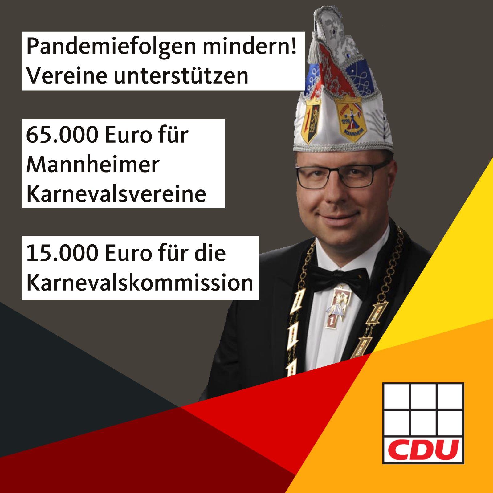 Read more about the article 65.000 Euro für Mannheimer Karnevalsvereine und 15.000 Euro für die Karnevalskommission