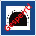 Tunnel gesperrt